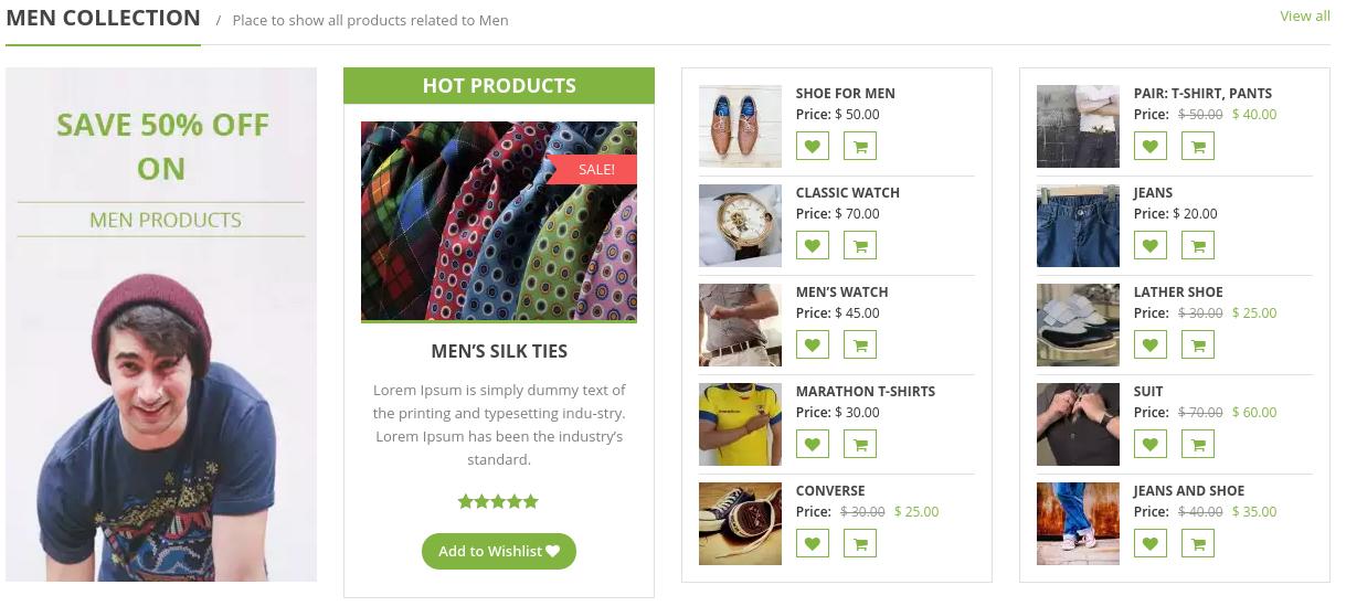 eStore Free WordPress Theme - Product Grid