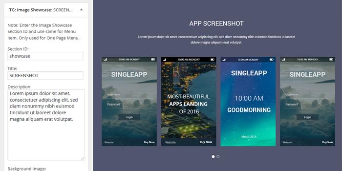 Singleapp Image Showcase Widget