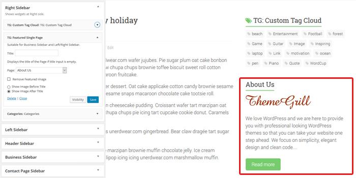 business-single-page-widget