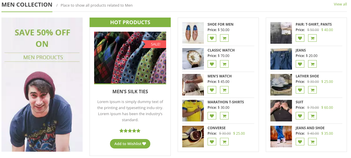 eStore Free WordPress Theme - Product Grid