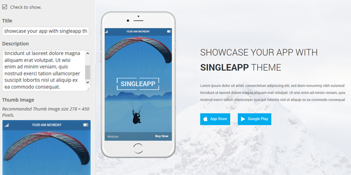 Singleapp Header Image Call To Action fullpage