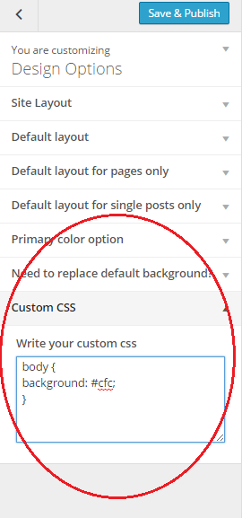 how to add a css colour theme