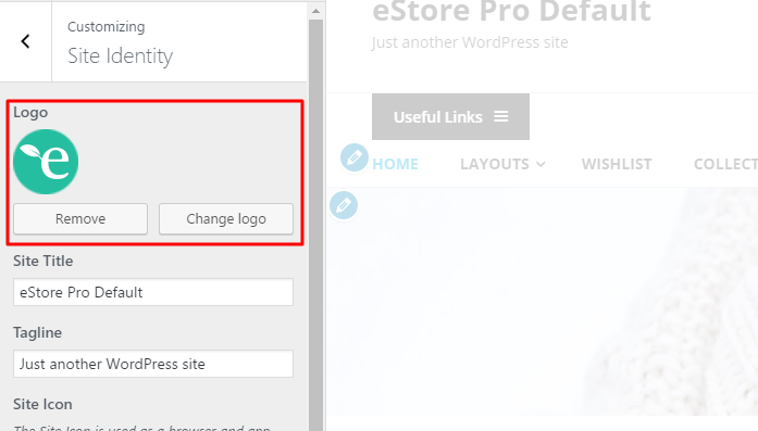 eStore instruction header logo