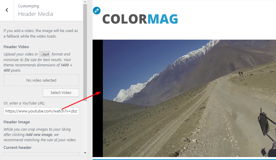 ColorMag header media